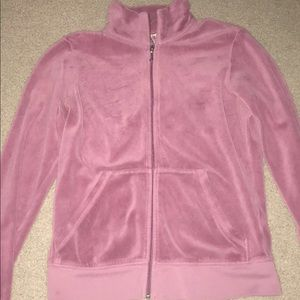 A crew neck like Juicy Couture zip-up sweatshirt